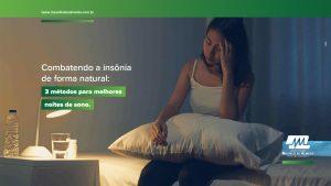 Combatendo a insônia de forma natural:  3 métodos para melhores noites de sono.